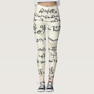 Asemic Calligraphy S/Language Leggings