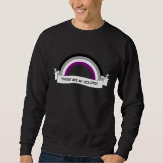 Asexuality rainbow pride Sweatshirt