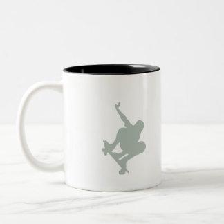 Ash Gray Skater Two-Tone Coffee Mug