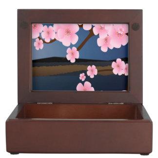 Asia Cherry Blooms Keepsake Box