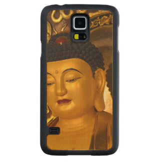 Asia Golden Buddha Carved Maple Galaxy S5 Case