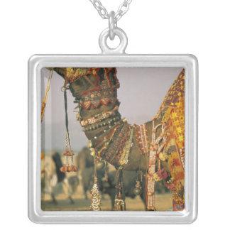 Asia, India, Pushkar. Camel Shamu , Pushkar Silver Plated Necklace
