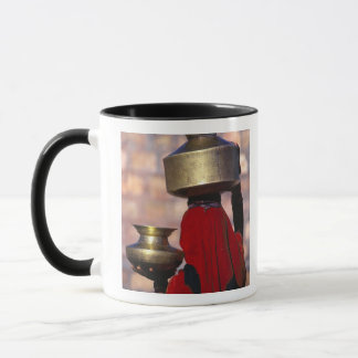 Asia, India, Rajasthan. A local woman in a red Mug