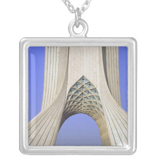 Asia, Iran, Tehran. Freedom Monument in Azadi Silver Plated Necklace