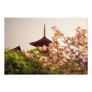 Asia, Japan, Kyoto, Kiyomizu temple in spring Photo Print