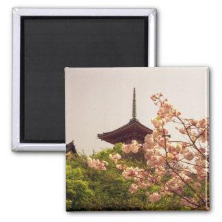 Asia, Japan, Kyoto, Kiyomizu temple in spring Square Magnet