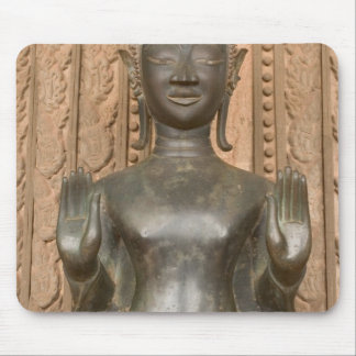 Asia, Laos, Vientiane, Bronze Buddha at Hawn Mouse Pad