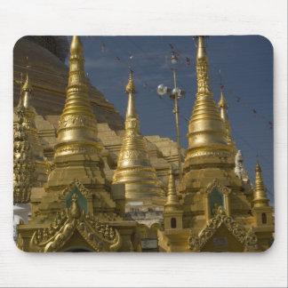 Asia, Myanmar, Yangon. Golden stupa of Shwedagon Mouse Pad