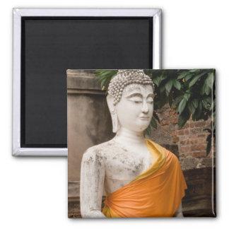 Asia, Thailand, Siam, Buddha at Ayutthaya Square Magnet