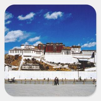 Asia, Tibet, Lhasa, Potala Palace. UNECSO Square Sticker