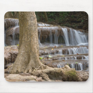 Asia, Waterfall on the border between Thailand Mouse Pad