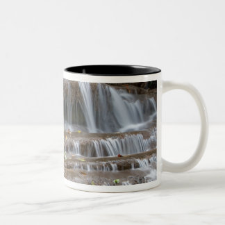 Asia, Waterfall on the border between Thailand Two-Tone Mug