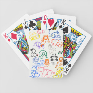 Asian Animals Bicycle Playing Cards