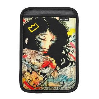 asian art emotional watercolor girl ink drawing iPad mini sleeve