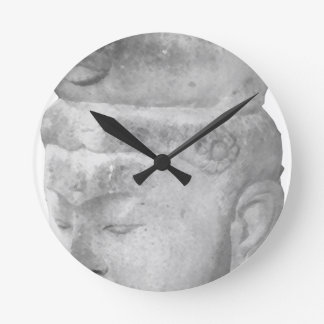 Asian Artifact Round Clock