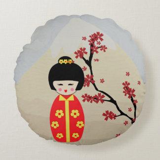 Asian Dolls Round Cushion