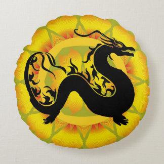 Asian Dragon Round Cushion