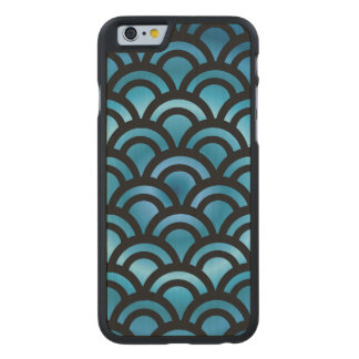 Asian Fish Scales Carved Maple iPhone 6 Case
