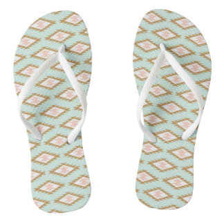 Asian Motif FlipFlops - Eugenio Columbo Thongs