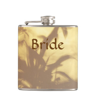 Asian Motif Wedding Brides Hip Flask