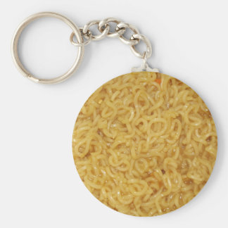 Asian Noodles Basic Round Button Key Ring