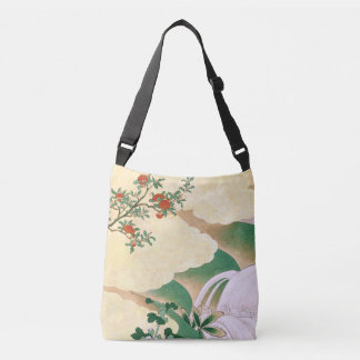 Asian Screen Red Roses Clouds Stream Tote Bag