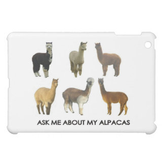 Ask me about my alpacas cover for the iPad mini