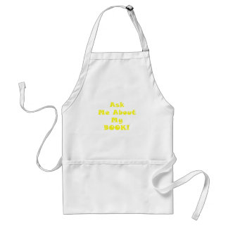 Ask Me About My Book Adult Apron