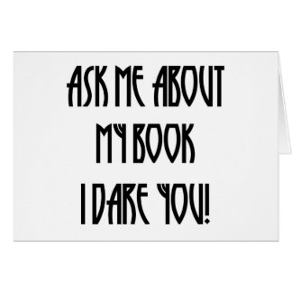ask me about my book t-shirt greeting card