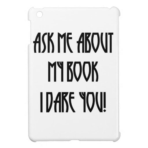 ask me about my book t-shirt case for iPad mini