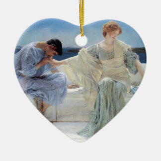 Ask Me No More by Alma Tadema, Vintage Romanticism Christmas Ornament