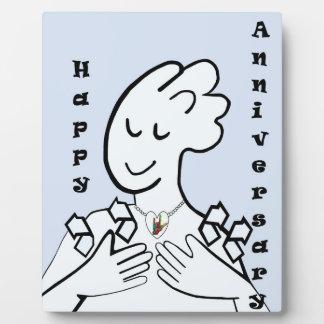 ASL Happy Anniversary Photo Plaque