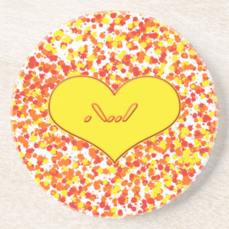 ASL-I Love You with Heart by Shirley Taylor Coaster