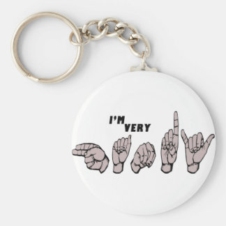 ASL - I'M VERY HANDY - AMERICAN SIGN LANGUAGE KEYCHAIN