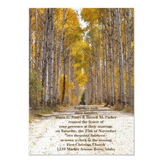 Aspen Alley In Autumn Wedding 13 Cm X 18 Cm Invitation Card