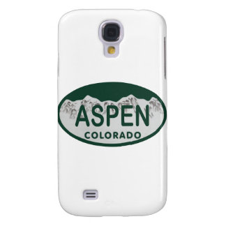 Aspen Colorado license plate Galaxy S4 Case