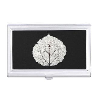 Aspen Leaf Skeleton 1 Business Card Holder