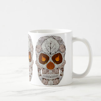 Aspen Leaf Skull 11 Coffee Mug