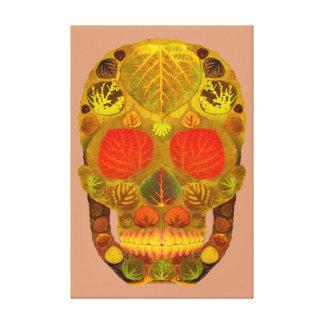 Aspen Leaf Skull 12 Canvas Print