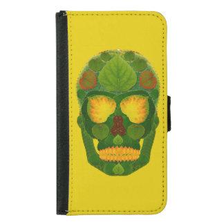 Aspen Leaf Skull 9 Samsung Galaxy S5 Wallet Case