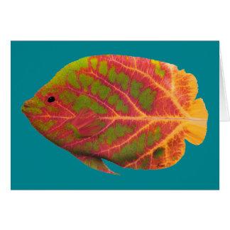 Aspen Leaf Tropical Fish 1 Card