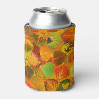 Aspen Leaves Collage Solid Medley 1 Can Cooler