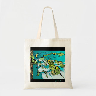 Aspen Leaves sm natural tote