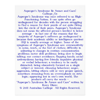 Asperger's Syndrome Be Aware and Care! 21.5 Cm X 28 Cm Flyer