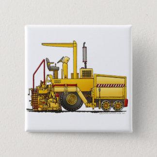 Asphalt Paving Machine Construction Construction P 15 Cm Square Badge