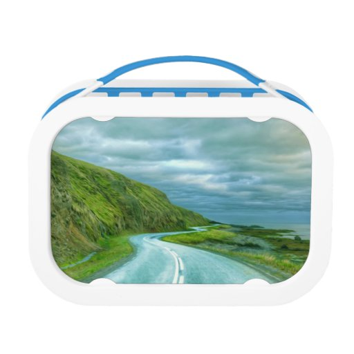 Asphalt road sharp curve yubo lunch boxes
