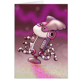 ASPIRO DUST CUTE ROBOT NOTE CARD