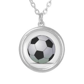 Association Football American Soccer Ball Round Pendant Necklace