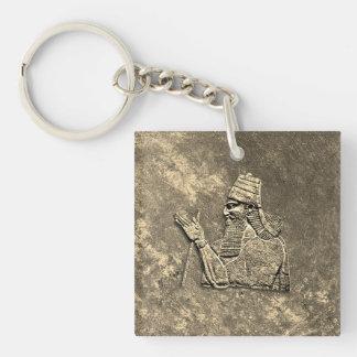 Assyrian king Acrylic Keychain