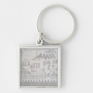 Assyrians moving a Winged Bull on a Sledge, from ' Key Ring